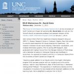SILS Welcomes Dr. David Gotz | sils.unc.edu